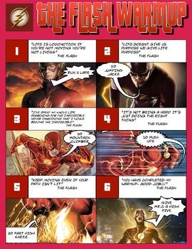 PE Poster: The Flash Warm ups