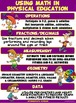 PE Poster: Using Math in Physical Education- Intermediate Version