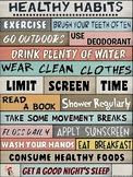 PE Poster: WORDS MATTER- Healthy Habits Visual