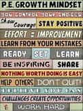 PE Poster: WORDS MATTER- P.E. Growth Mindset Visual