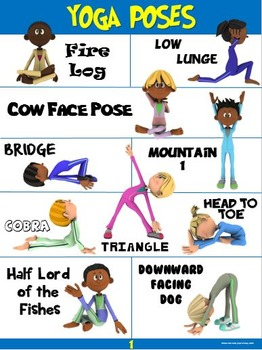pe poster yoga poses 1cap'n pete's power pe  tpt