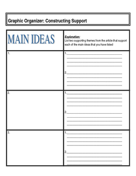 PE Reading Writing Assignment with Graphic Organizer
