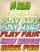 PE Rule Posters