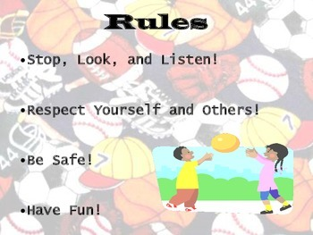 PE Rules and Consequences Posters