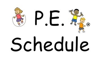 P.E. Schedule Cards (Wall Size)