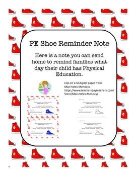 PE Shoe Note