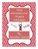 PE Shoe Reminders