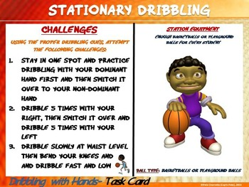 "PE Skill Stations and Task Cards! - ""4 Free Station Signs and Task Cards"""
