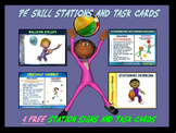 "PE Skill Stations and Task Cards! - ""4 Free Station Signs"