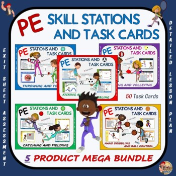 "PE Skill Stations and Task Cards- ""Mega Bundle"""