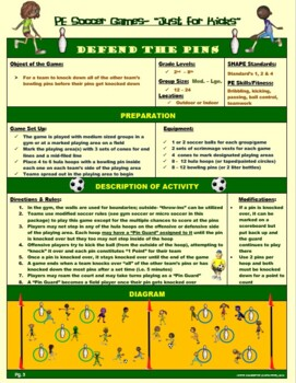 "PE Soccer Games-   ""Just for Kicks"""