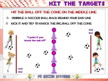 "PE Soccer Stations- 20 ""Kick Around"" Zones"