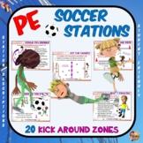 "PE Soccer Stations- 20 ""Kick Around"" Zones"