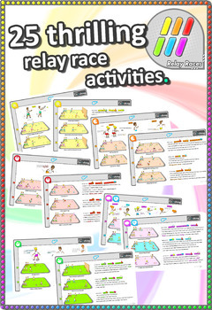 pe sport relay race activities the rapid relay races pe sport pack