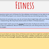 PE Sport Research & Fitness Project   Grade 6-10   Virtual Learning