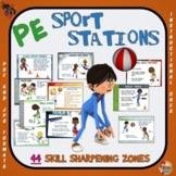 """PE Sport Stations - 44 """"Skill Sharpening"""" Zones"""