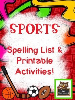 PE Sports Spelling and Word Work Fun!