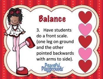 PE Station Cards : Valentine's Day Balance Cards