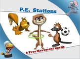 PE Stations - 6 Free Movement Cards