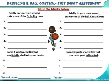 """PE Skill Stations and Task Cards- """"Hand Dribbling and Ball Control"""""""