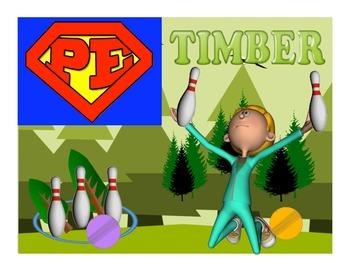 "Super PE Game - ""Timber"""