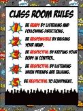 PE Superhero Themed Rules