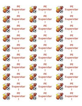 PE Superstar Sticker