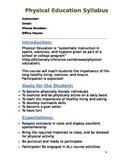 physical education (PE) Syllabus