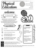 PE Syllabus - Gym Class - Easy to edit in Google Slides!