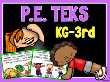 P.E. TEKS Posters for K-3
