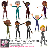 PE Teacher Clip Art - General Action Clip Art
