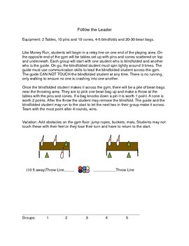 Common Core in Physical Education: Team Building Unit