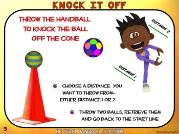 "PE Team Handball Stations- 20 ""Throw-Away"" Zones"