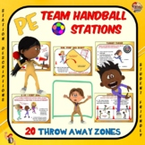 "PE Team Handball Stations- 20 ""Throw-Away"" Zones"