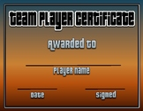 PE: Team Player Certificate