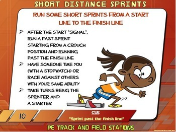 """PE Track and Field Stations- 20 """"Run, Jump and Throw"""" Zones"""