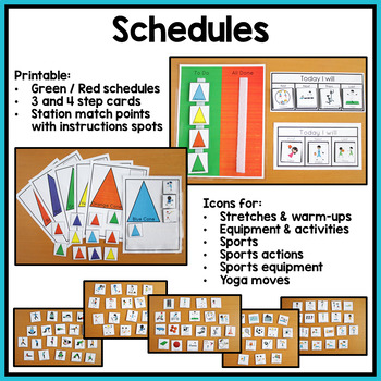 PE Visual Supports and Schedules for Special Education and Autism