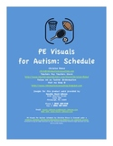 PE Visuals for Autism: Schedule (Special Education)