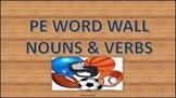 PE WORD WALL