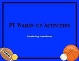 PE Warm-Up Activities