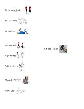 PE Warm-Up Schedule
