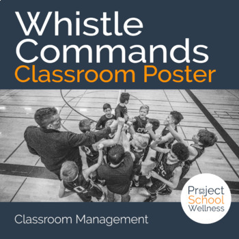 PE Whistle Commands (Classroom Management, Poster, Back-to-school)