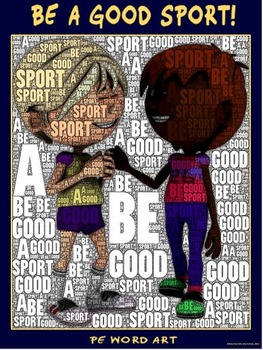 "PE Word Art Poster: ""Be a Good Sport"""