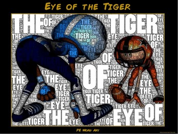 """PE Word Art Poster: """"Eye of the Tiger"""""""
