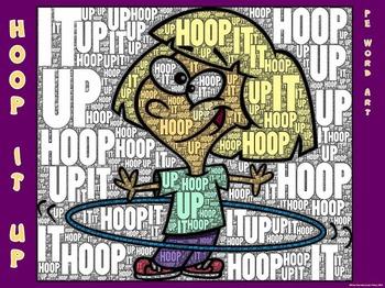 "PE Word Art Poster: ""Hoop it Up"""