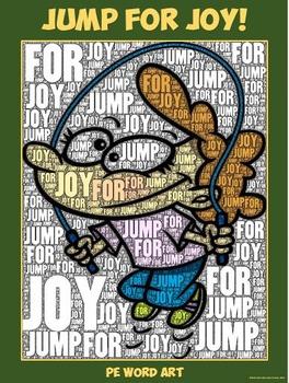 "PE Word Art Poster: ""Jump for Joy"""