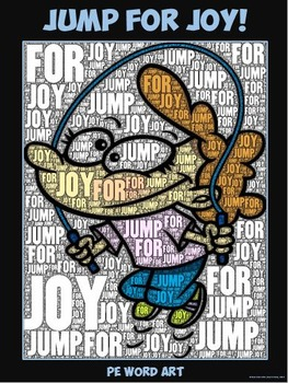 "PE Word Art Poster: ""Jump for Joy"""