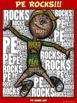 "PE Word Art Poster: ""PE Rocks!"""