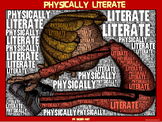"""PE Word Art Poster: """"Physically Literate"""""""