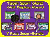 PE Word Wall Display Boards- 7 Pack, Team Sport Super Bundle